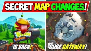 "ALL *NEW* FORTNITE SECRET MAP CHANGES V8.40 ""CUBE GATEWAY in LOOT LAKE"" + ""DURRR BURGER!"" Season 8"