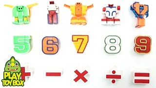 Learning Number Arithmetic and Sounds for kids with Transforming Number Robot Toys