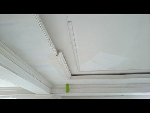 гипсокартонный потолок 17. Прямая классика с подсветкой. Classic gypsum ceiling.