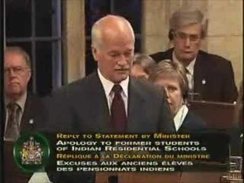 Jack Layton: Apology to the survivors of residential school