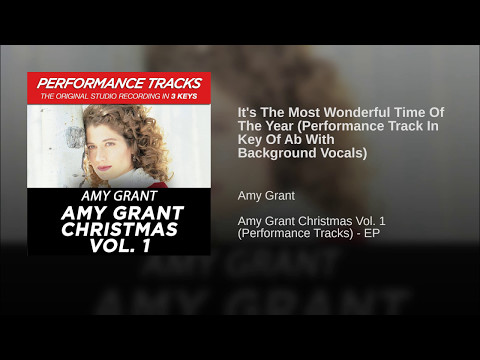 It's The Most Wonderful Time Of The Year (Performance Track In Key Of Ab With Background Vocals)