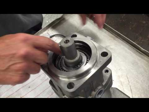 How to remove the shaft seal on a Parker F12 Hydraulic Motor