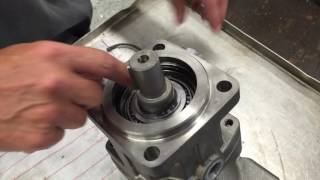 How to remove the shaft seal on a Parker F12 Hydraulic Motor Pump