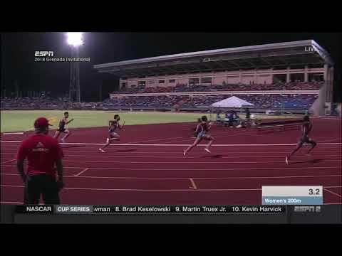 Tori Bowie 200m - Grenada Invitational