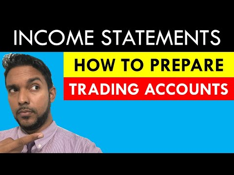 Income statements | How to prepare a Trading account | Cost of goods sold section | CSEC PoA