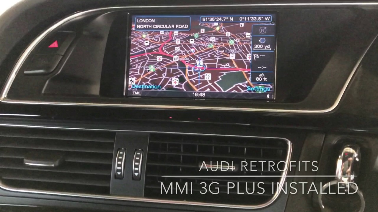 Audi A4 3g Mmi Low To 3g Plus Retrofit Youtube