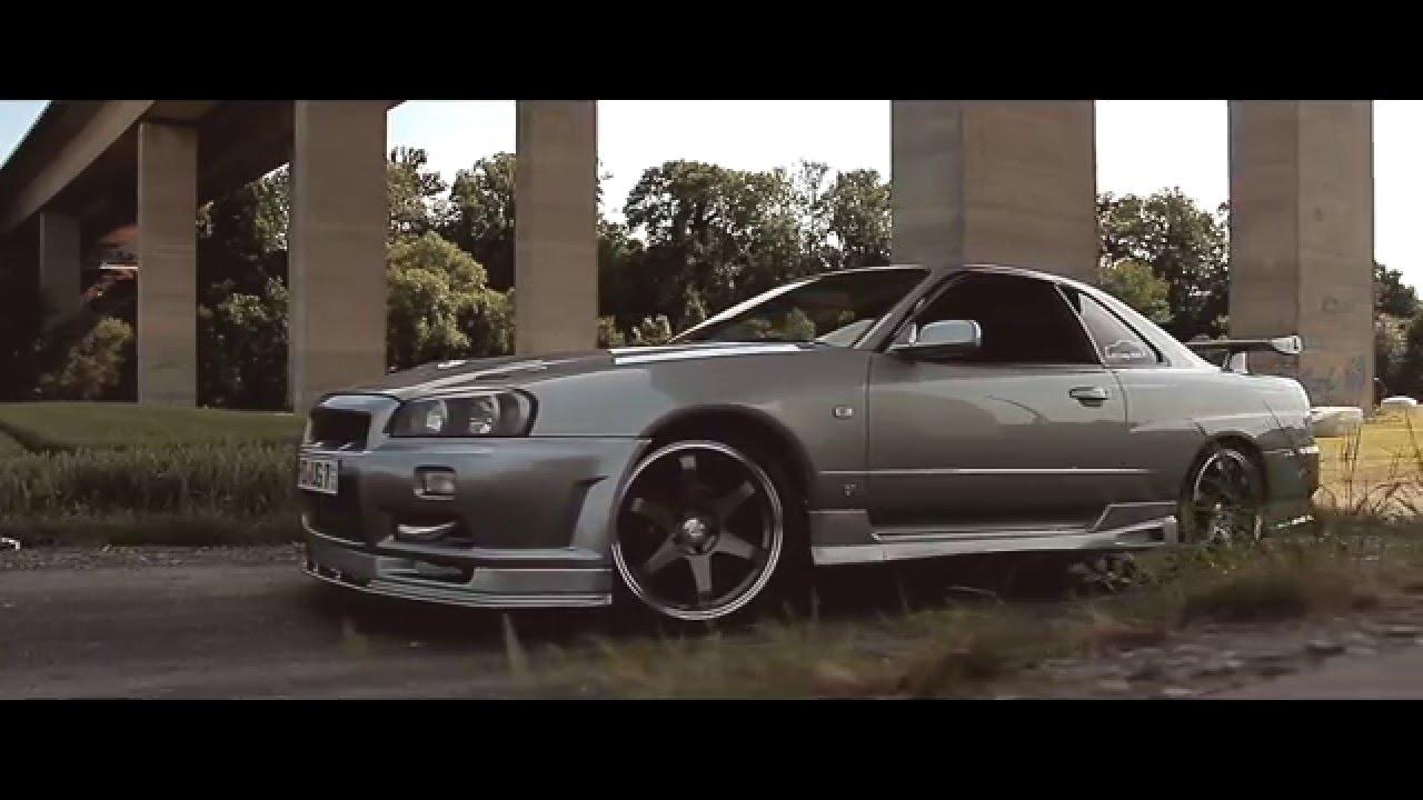 R34 Wallpaper Hd Nissan Skyline Gt R Tuning Burnout Youtube