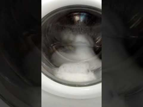 Washing machine on a very fast spin