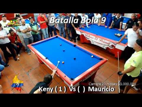 Duelo de Bola 9 (USD $1000) - Keny Castro Vs Mauricio Cuestas - Villavicencio/Colombia