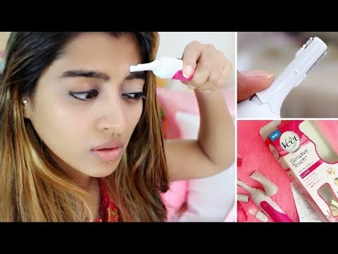 How to: Remove Facial Hair | & VEET Hair Trimmer Review _ Eyebrows, Face, Pubic Hair | SuperWowStyle