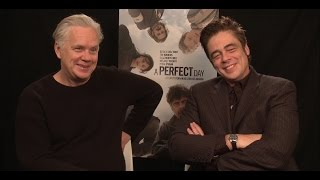 benicio del toro and tim robbins on a perfect day and balancing humor with the drama