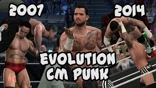 The Evolution of CM Punk from Smackdown vs Raw 2008 to WWE 2K15