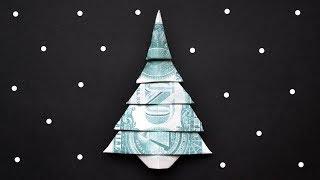 My MONEY CHRISTMAS TREE   Dollar Origami   Moneygami   Tutorial DIY by NProkuda