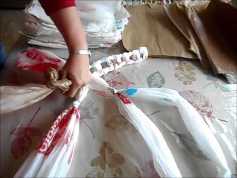 Plastic Bag Rug Without Crocheting Youtube