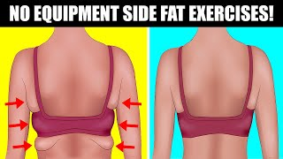 4 Side Fat Exercises That Can Help You Fit Into Smaller Clothes | No Equipment Side Fat Workout