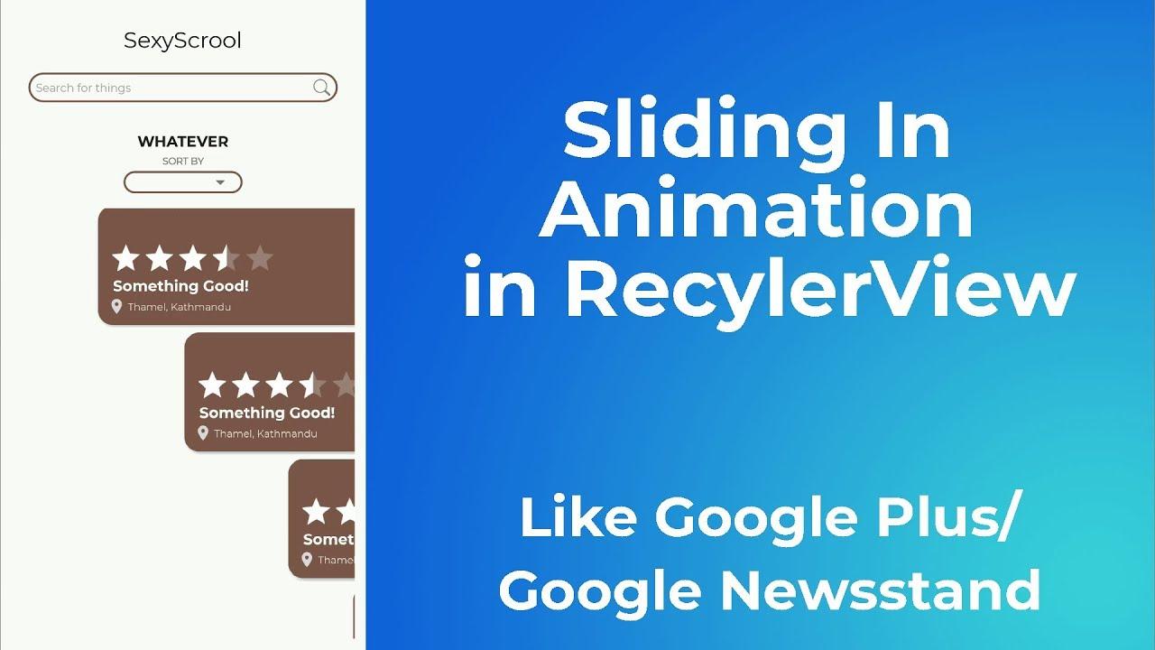 recyclerview horizontal animation
