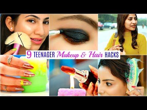 9 TEENAGERS Life Saving HACKS - Makeup, Hair & Beauty | #Fun #Anaysa
