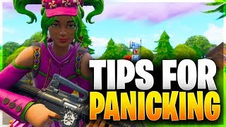 HOW TO STOP PANICKING/CHOKING! Tips to Reduce Anxiety in Game! (Fortnite Battle Royale)