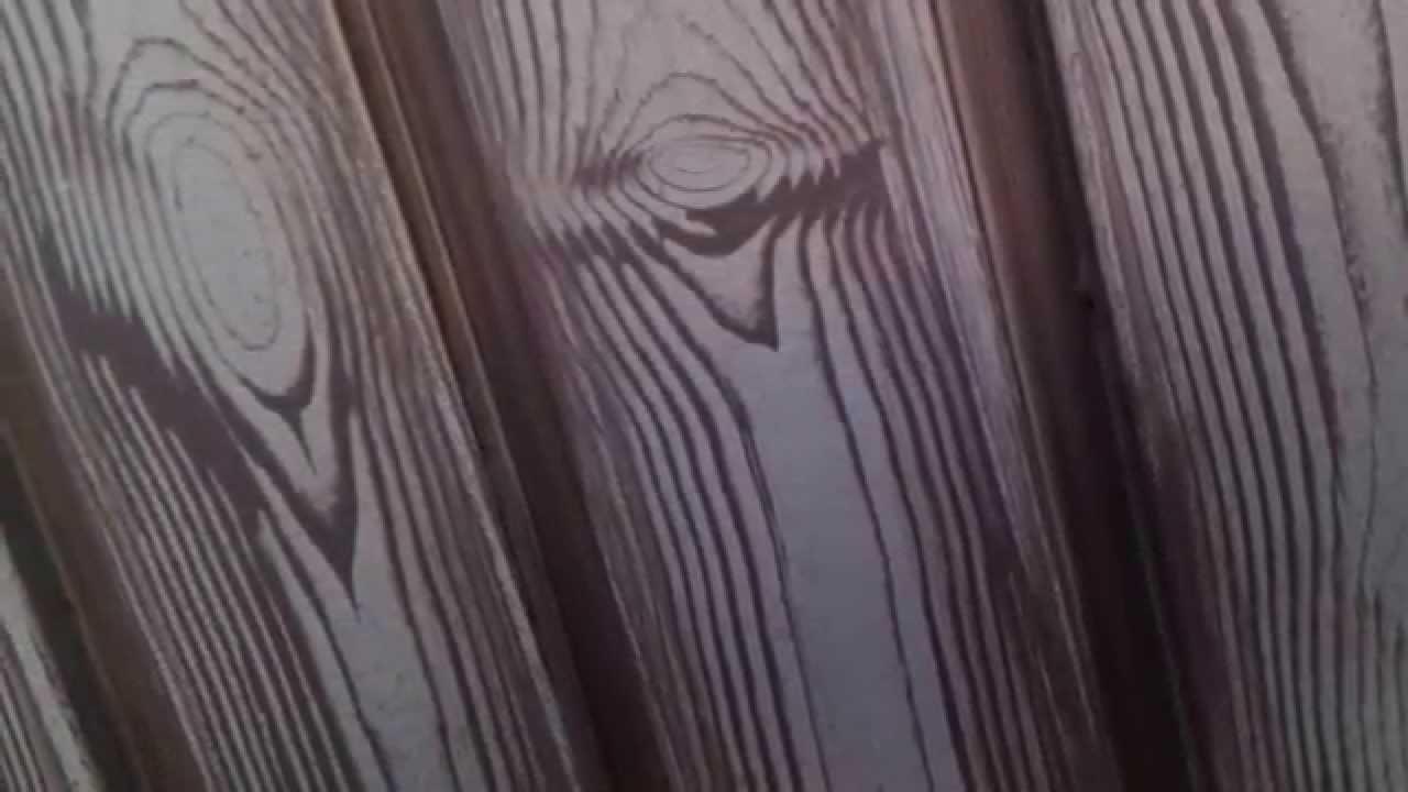 Puerta de metal con efecto madera  DECORPAINT PINTURA Y