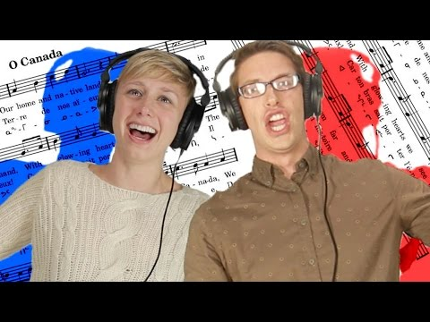 """Americans Try To Sing """"O Canada"""""""