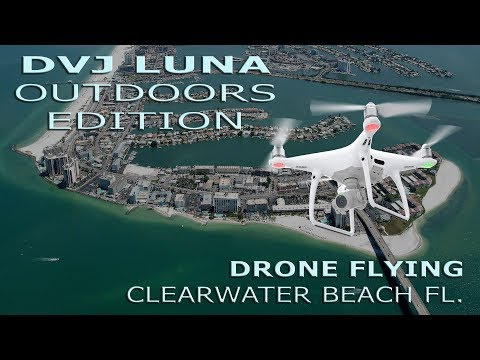 Drone Flying Over Sand Key, Clearwater Beach FL 7-13-2017
