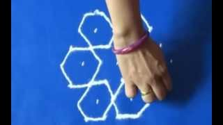 Rangoli Design with dots easy to draw and beutiful for beginners-1 By Meartist.in