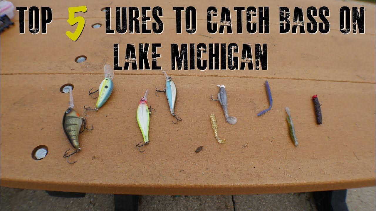 My Top 5 Lures To Catch Bass On Lake Michigan Vlog 9 4k Youtube