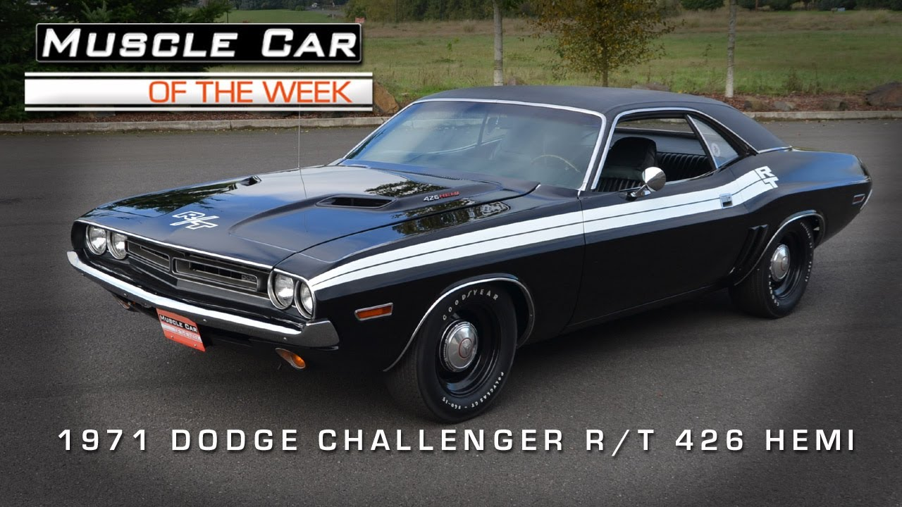 Muscle Car Of The Week Video 38 1971 Dodge Challenger R T 426 Hemi
