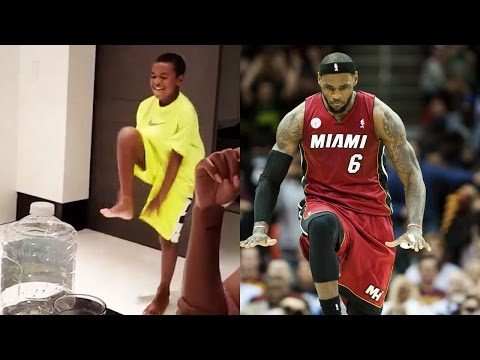 Lebron James' Son PERFECTLY Imitates