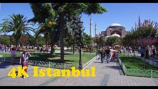 Walk around Istanbul 4K. Sultanahmet Gulhane. Sirkeci Eminonu.