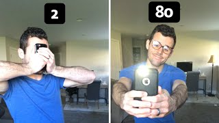How different ages take a selfie.