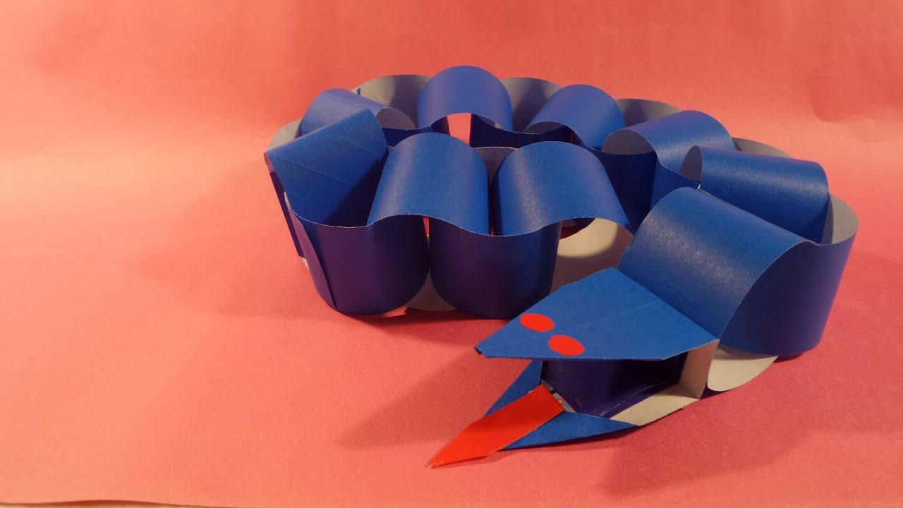 뱀 색종이 접기 - Origami Confetti snake - YouTube - photo#45