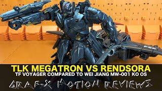 Transfomers The Last Knight Megatron and Wei Jiang MW-001 Rendsora KO OS Comparison Toy Review!
