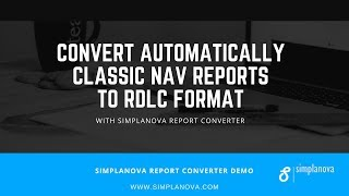 Convert Classic Dynamics NAV reports to RDLC with Simplanova Report Converter