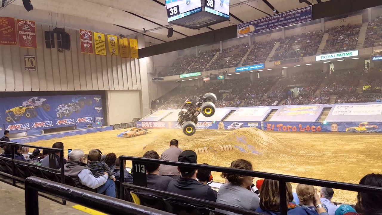 2016 Monster Jam Royal Farms Arena Max D Freestyle Youtube