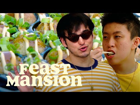 Joji and Rich Brian Make a Classic Japanese Street Food | Feast Mansion