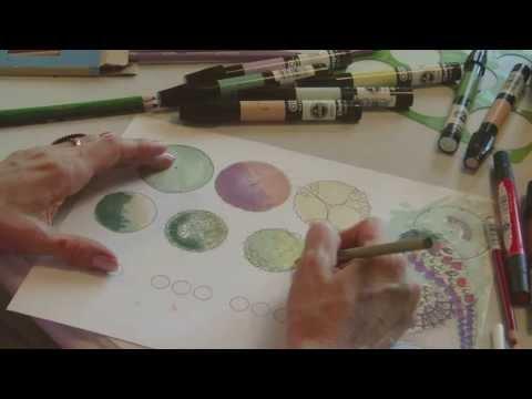 ASMR Landscape Coloring Techniques