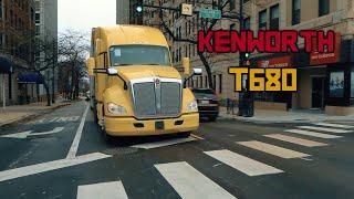 Что внутри легендарного американского трака Kenworth T-680 Обзор KENWORTH T-680 часть 2