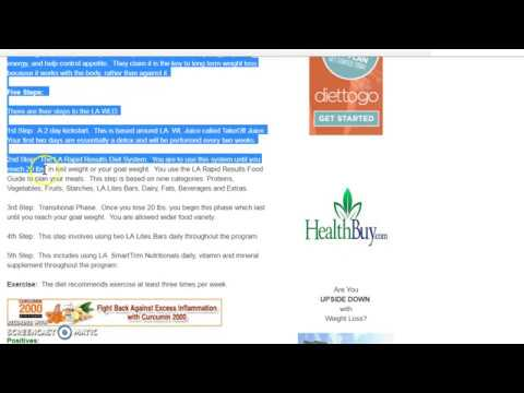 LA Weight Loss Diet Review - YouTube