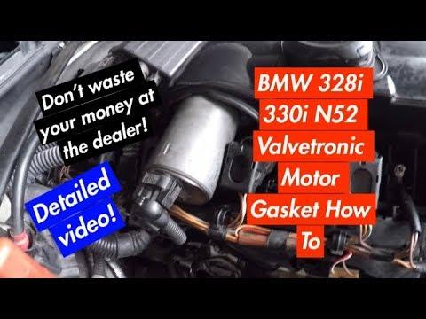 BMW E60 E63 E82 E85 E86 E90 E92 N52 How To Replace Valvetronic Motor Gasket  Z4 525i 328i 330i