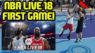NBA LIVE 18 FIRST GAMEPLAY! THE ONE MR CLEAN NATION STAND UP!