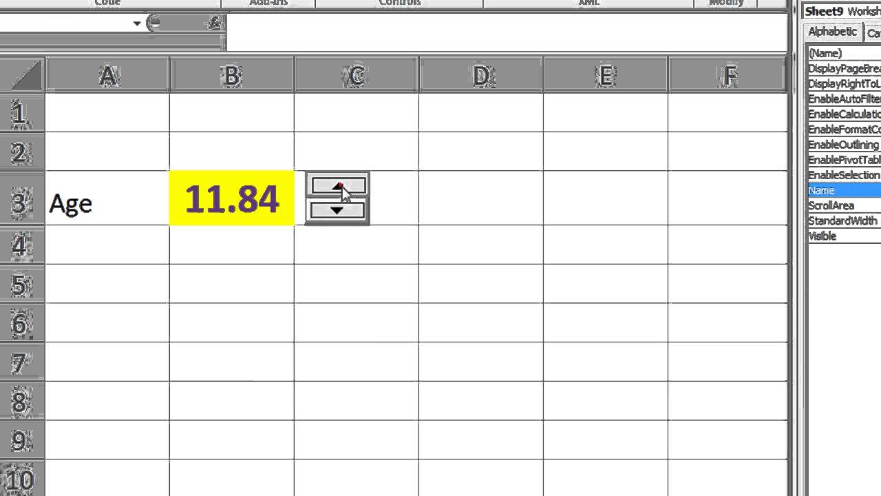 Excel VBA ActiveX Series #5 SpinButton - Incrementing and ...