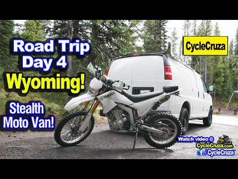 Day 4: Gone to Wyoming! Yellowstone! Powerful Chili | Stealth Moto Camper Van Adventure