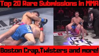 Top 20 Rare Submissions in MMA