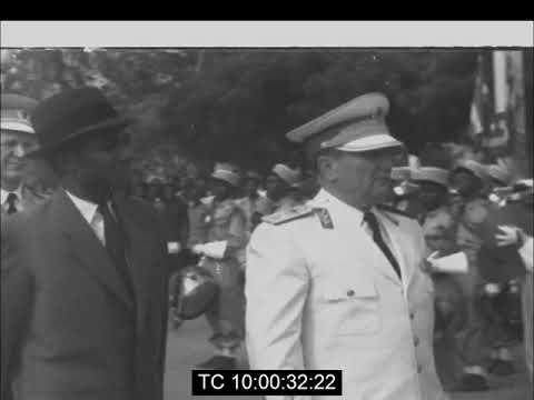 "Prime Minister Sylvanus Olympio Hosts Yugoslav President Josip Broz ""Tito""   Lome, Togo   March 1961"