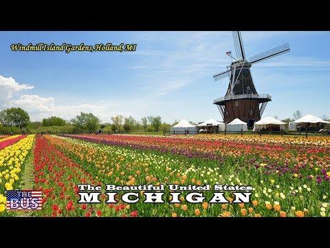 USA State of Michigan Symbols / Beautiful Places / Song MICHIGAN, MY MICHIGAN w/lyrics