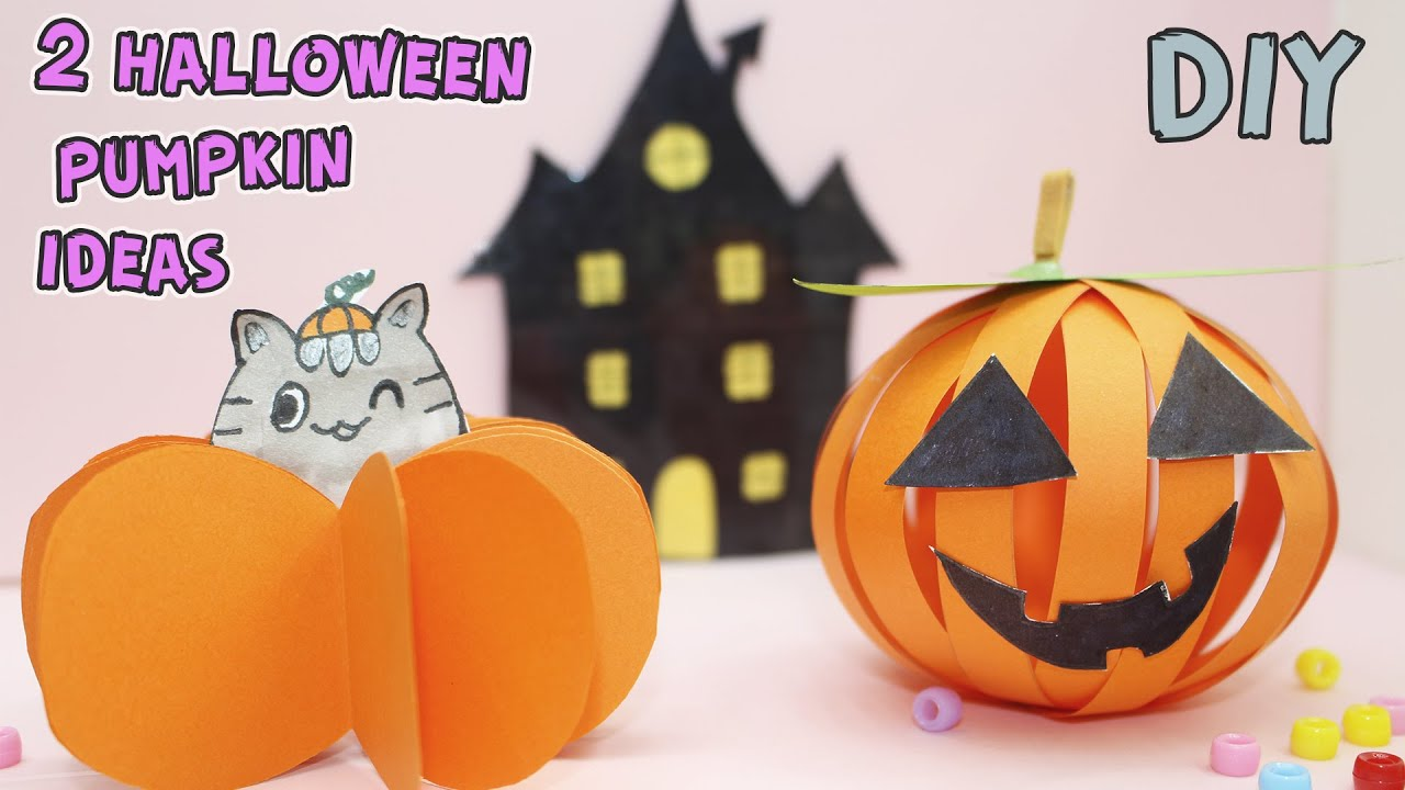 Origami Halloween crafts / 2 Halloween pumpkin ideas / How to make a paper pumpkin / BublikShow