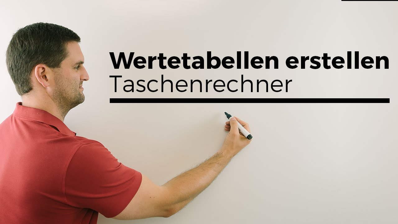 Wertetabelle erstellen mit Taschenrechner, Casio fx, Mathe by Daniel ...