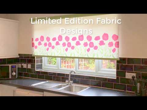 Motorised Kitchen Blind With Limited Edition Fabric Design