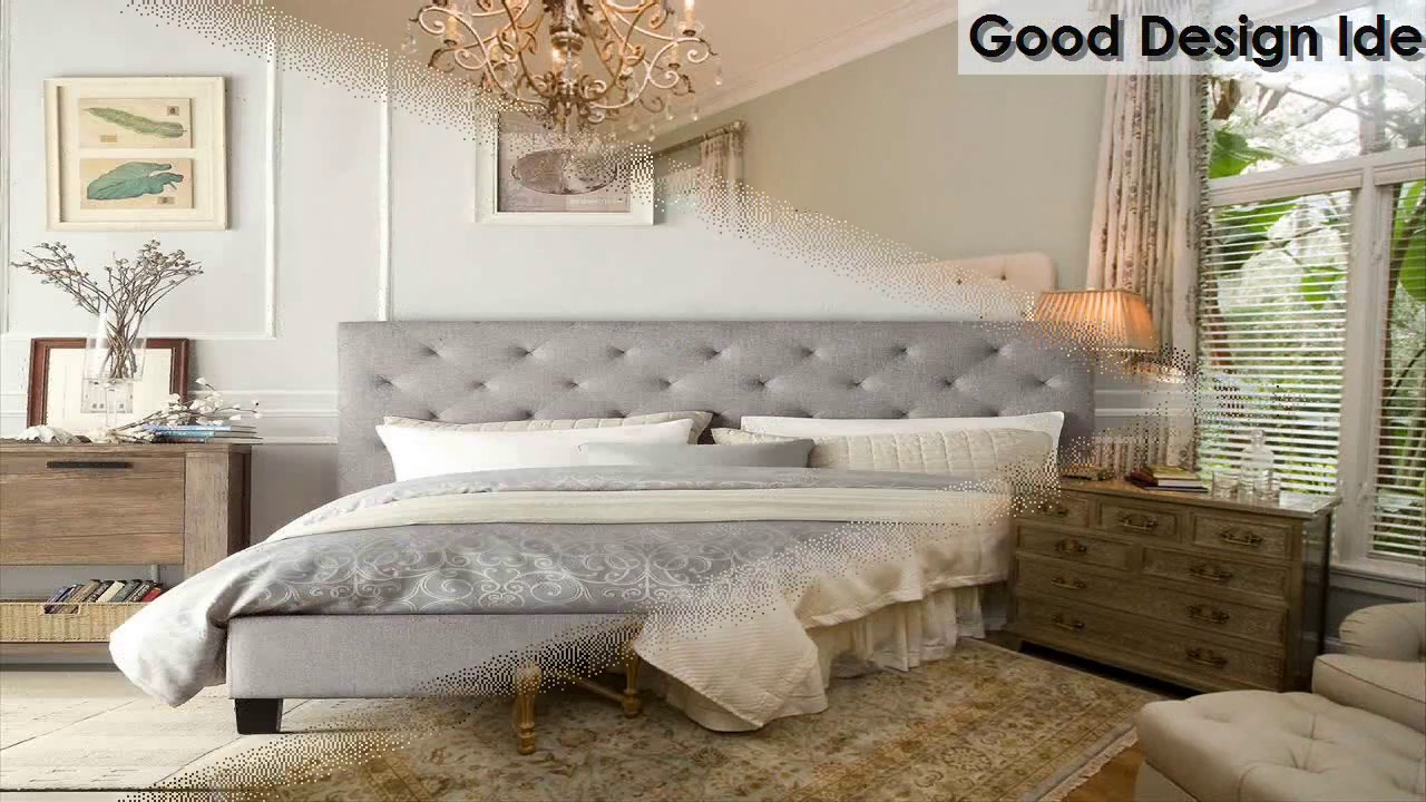 Bedroom Ideas Upholstered Headboard - YouTube